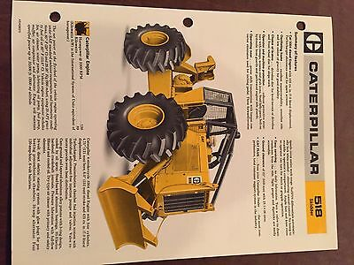 Cat Caterpillar 518 Cable Skidder Grapple Brochure Original Antique