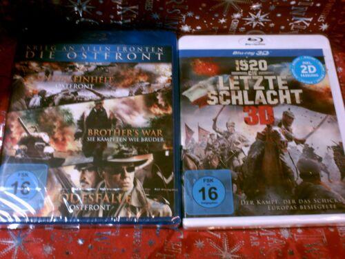 DIE OSTFRONT-3 Filme & 1920 DIE LETZTE SCHLACHT Blu-ray 3D+2D  - siehe Bilder