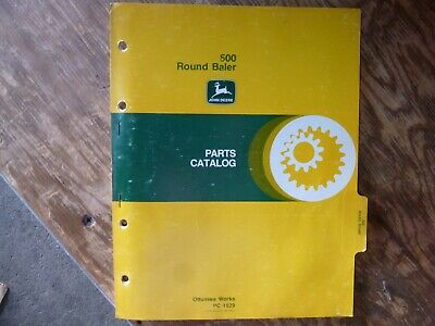 John Deere 500 Round Baler Parts Catalog Manual Book Original Pc-1529