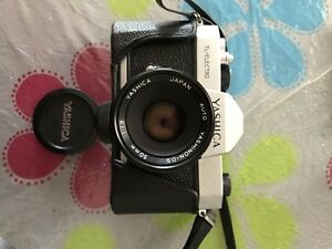 Yashica vintage camera with lens