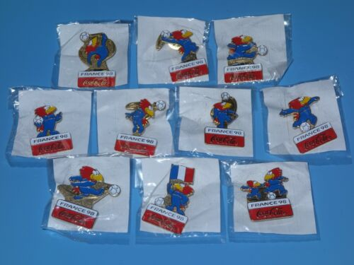 FIFA World Cup 98 France Official Mascot Footix Pins Set