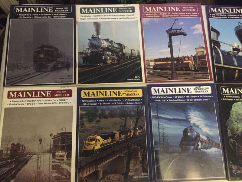 Mainline Modeler Magazine Lot Of 12) Full Year Jan-Dec 1986