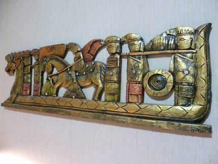 REDUCED PRICE, LARGE BALINESE WALL PLAQUE, EXCELLENT CONDITION. New Lambton Heights Newcastle Area Preview
