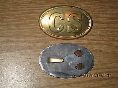 CS Civil War belt buckle