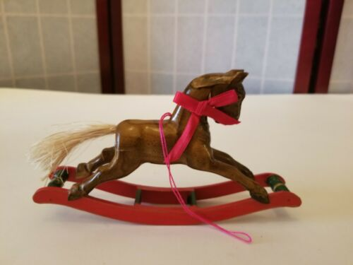 Wooden Rocking Horse Ornament by Authentic Models Handmade