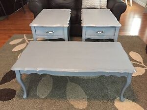 **RUSTIC CHARM COFFEE AND END TABLE SET**