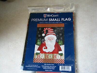"1 WinCraft Christmas Santa HO HO HO Small Garden Flag 12.5"" x 18"" Winter"