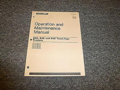 Caterpillar Cat D3g D4g D5g Track Type Tractor Owner Operator Maintenance Manual
