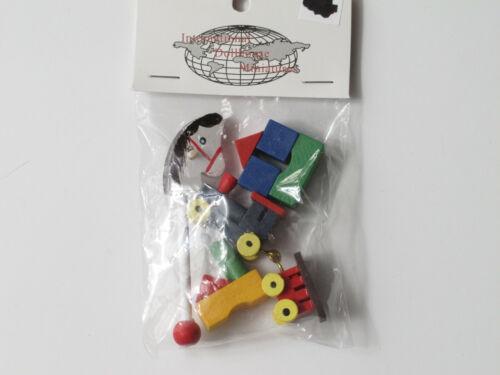 IDM Dollhouse Miniature 1:12 Scale Childs *TOY SET* Wooden Horse Train Blocks