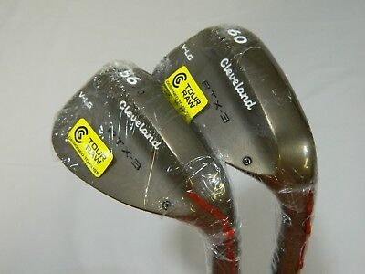 New Cleveland Rotex 3 RAW RTX-3 wedge set 56* SW and 60* LW V-LG Grind wedges