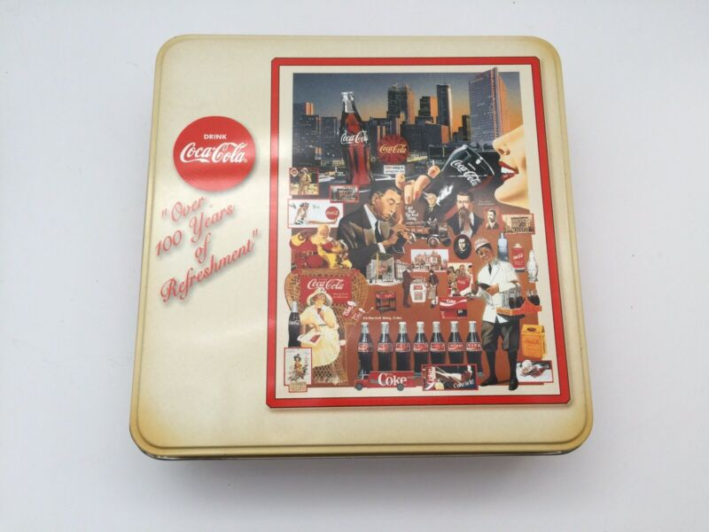 """Coca Cola Vintage Puzzle """"Over 100 Years of Refreshment"""" 1986 1,000 Piece"""