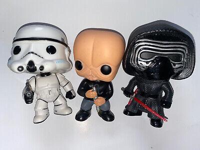 Funko Pop Star Wars Kylo Ren #60, Storm Trooper #05, D'An #48 Vinyl Figure