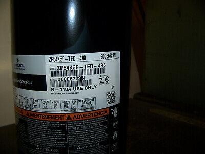 Emerson Copeland Scroll Ac Compressor 3 Ph 60 Hz R410a 380v-420 Zp54k5e-tfd-498