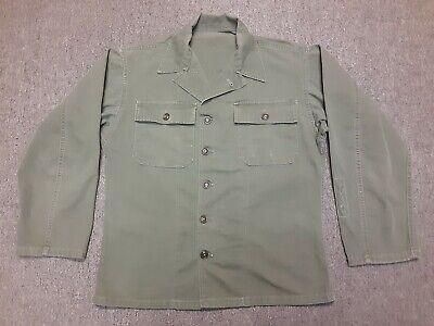 VTG 40s US Army Military M47 HBT Herringbone Utility Fatigue Shirt Jacket Small