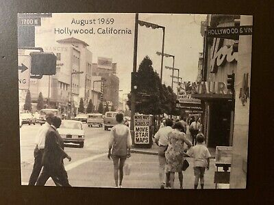 August 1969 - Hollywood Blvd - Hollywood, Ca. collectors postcard - see (Hollywood Blvd California)