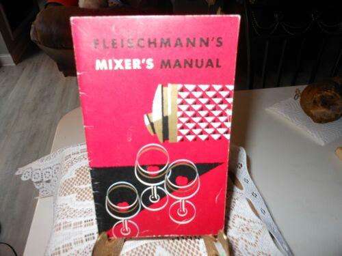 Vtg Fleischmann Mixing Manual (Rum/Whiskey/Gin/Scot) Fleischmann Distilling Corp