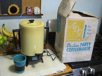Vintage ADG Deluxe Coffee Maker 12-32 cups, Tested/Works Deluxe 12 Cup Coffee Maker