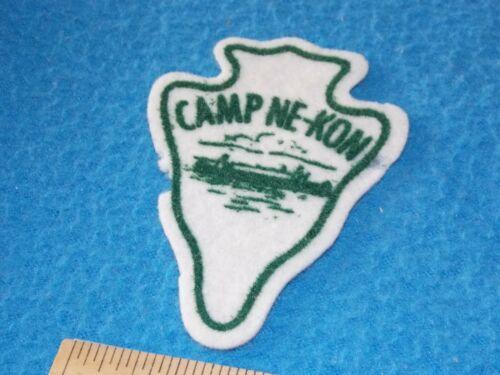 Camp Ne-Kon FELT Patch - Kingston MA.