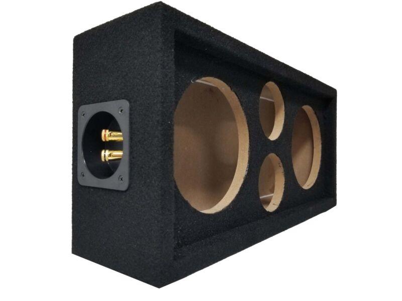 """Speaker Pod Enclosure Box Carpeted MDF fits 6"""" Midrange/Speakers and 1"""" Tweeters"""