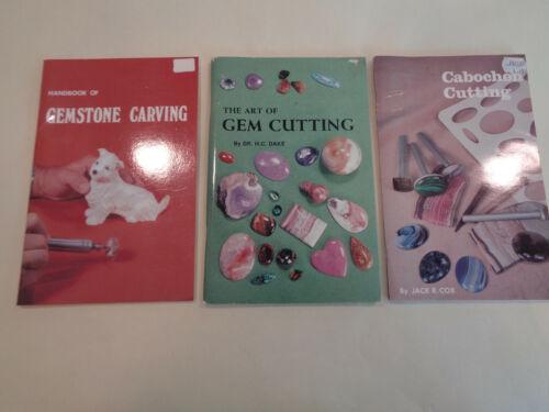 Cabochon Cutting, Gem Cutting, Gemstone Carving (3 Books) Gemology