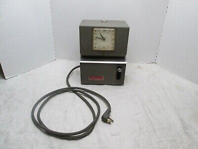 Vintage Lathem Punch Time Clock Mechanical Recorder Industrial Factory
