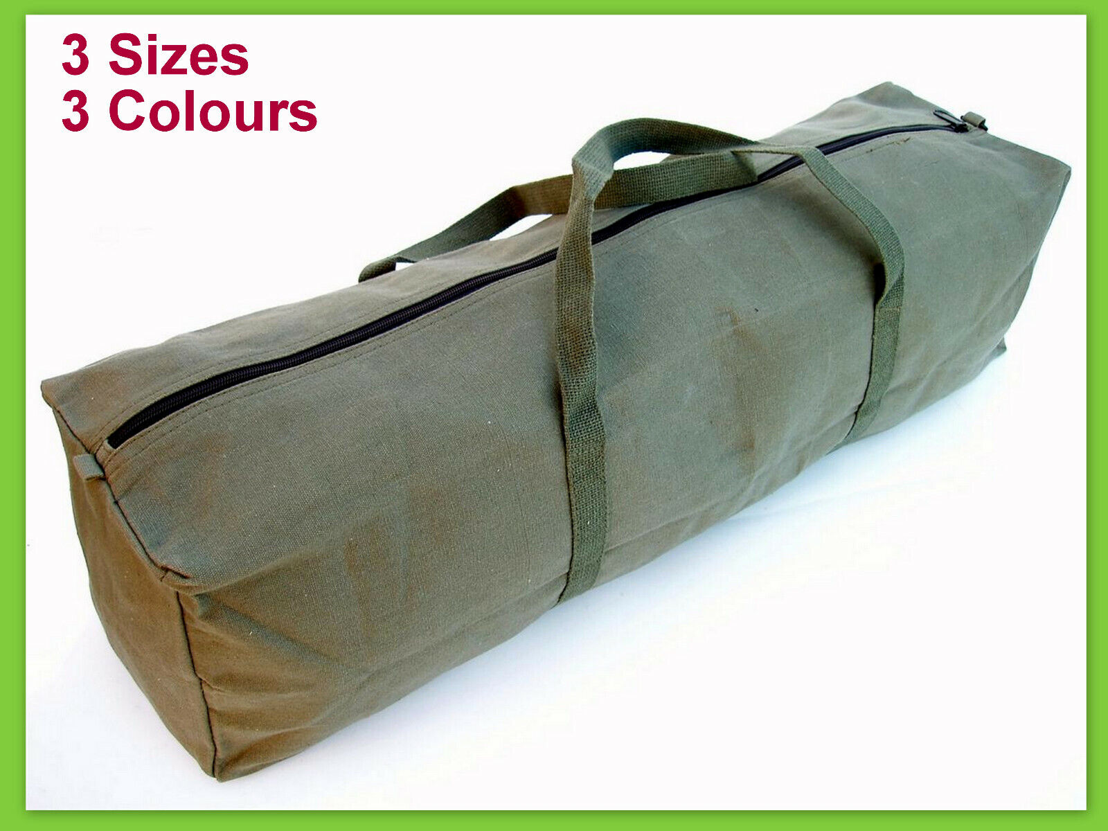 9b776cec0b66 New Heavy Duty Canvas Tool Carry Bag Travel Luggage Duffel Duffle Tote Zip  3Size
