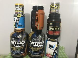 Whey protein, casein, BCAA's and pre workout
