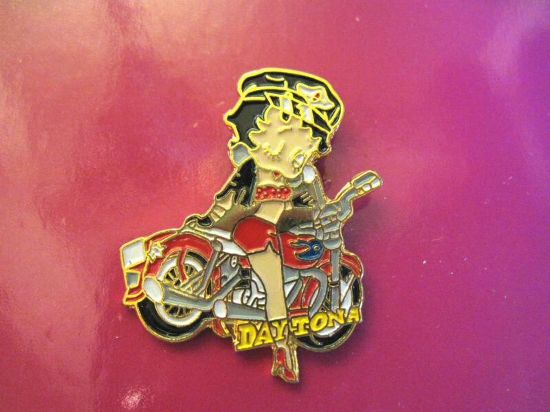 BIKER BETTY Betty Boop DAYTONA - hat pin, lapel pin , tie tac, hatpin GIFT BOXED