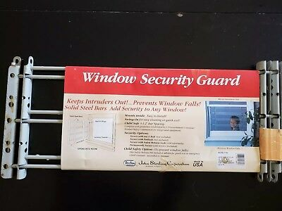Only 1 Left! John Sterling Swing Open Window Security Guard, 3 Bar Model #1133