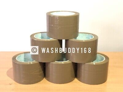"24 Rolls High Quality 1.8 Mil 3""X110 Yards Brown/Tan Carton Sealing Packing Tape"