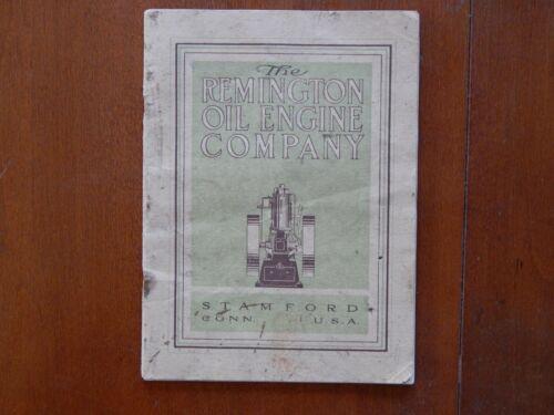 1908 Remington Oil Engine Stamford, Conn. Catalog