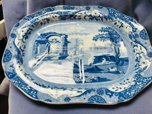 SPODE ANTIQUE LARGE MEAT SERVING TRAY