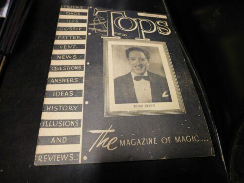 Tops The Magazine Of Magic & Magicians 1946 January Duke Stern