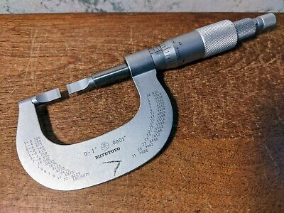 Mitutoyo 0-1 Inch Blade Micrometer No 122-125 - Lot1a