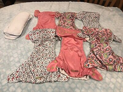 Fuzzibunz cloth diapers  one size pockets lot 6