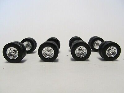 4 TOP SHELF REPLICAS 1/64 SCALE  TIRES, WHEELS & AXLES WILL FIT DCP, FIRST GEAR