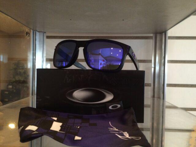 sunglasses similar to oakley holbrook l7d5  New Oakley Julian Wilson Holbrook Matte Black w/Violet Iridium Lens  OO9102-26