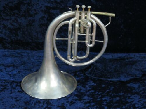 Vintage Baronet Silver F Mellophone Ser#49442 Good Playing Condition Nice Sound