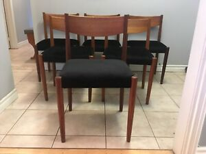 Beautiful Mid century modern Danish Teak dining chairs -