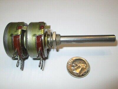 Ohmite 1 Meg Ohm Dual Long Shaft Potentiometer Ccu-1052 Nos 1 Pc.
