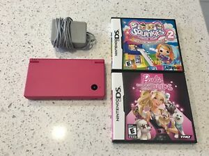Nintendo DSi Pink in Mint condition with charger and 2 games