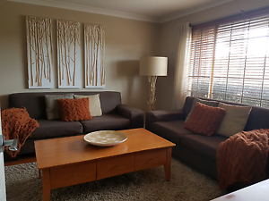 Lounge / Sofas 2.5 Seater & 3 Seater Brown Fabric Ocean Reef Joondalup Area Preview