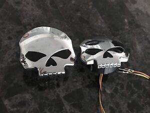 Willie G chrome gas caps with gauge