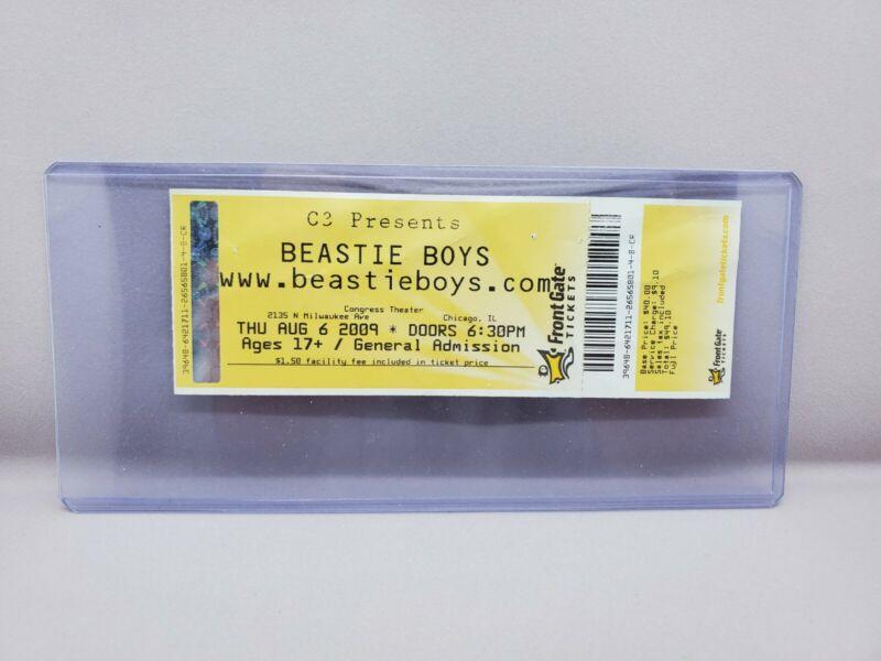 2009 BEASTIE BOYS Concert 8/6 Full Ticket CONGRESS THEATER Chicago IL HOT SAUCE