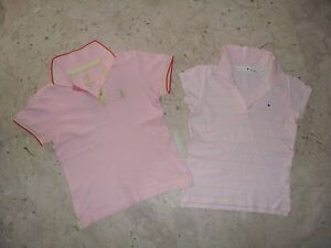 LOTTO-n-2-POLO-BIMBA-IN-COTONE-TOMMY-HILFIGER-REFRIGUE-Tg-S-8-9-anni