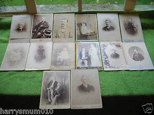 CDV collection Cabinet cards some named