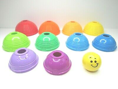 Fisher Price Brilliant Basic Stack and Roll Cups Stacking Balls Toddler Toy