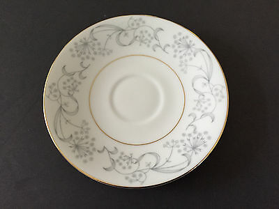 Meito China Japan MEI401 Gray Flowers Gold Trim - 6