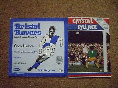 Bristol Crystal (CRYSTAL PALACE V BRISTOL ROVERS 2 PROGRAMMES)