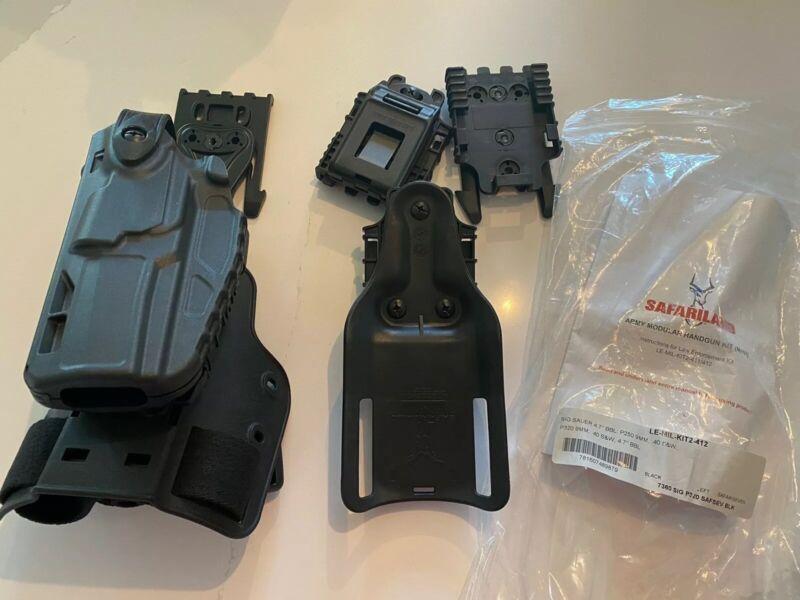 Safariland LE-MIL-KIT2-411 LH Holster Black SIG 4.7 P250 P320 9mm 40 S&W